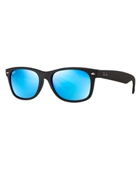 Ray-Ban New Wayfarer Flash Sunglasses - Black & Blue Flash.