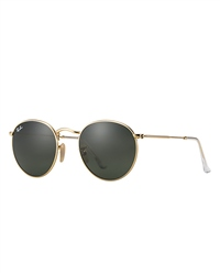 Ray-Ban Round Metal Sunglasses - Black & Gold