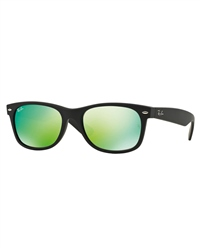 Ray-Ban The Men's  New Wayfarer Flash Sunglasses - Black & Green Flash