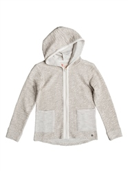 Roxy Cool White Hoody - Metro Heather