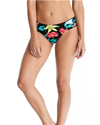 Seafolly Island Vibe Ruch Side Bikini Bottoms - Black