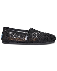 Toms S Classic Crochet Shoes - Black