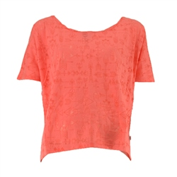 ACS Clothing Devore Top in Coral