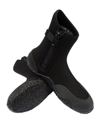 Alder 5mm Zipped Wetsuit Boots in Black