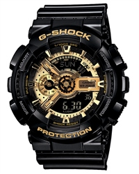 Casio G-Shock Watch in Black & Gold