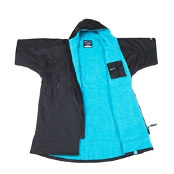 Dryrobe Short Sleeved Adult Dryrobe in Black & Blue