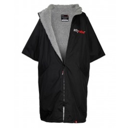 Dryrobe Short Sleeved Adult Dryrobe in Black & Grey