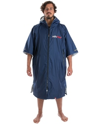 Dryrobe Large Short Sleeved Changing Robe in Navy & Grey