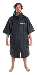 Dryrobe Small Short Sleeved Changing Robe in Black & Blue