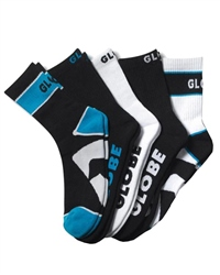 Globe Destroyer Socks 5Pk in Black