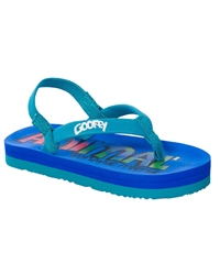 Animal Goofey Flip Flops in Blue