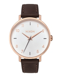 Nixon Arrow Leather Watch - Rose Gold & Silver