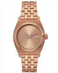 Nixon Med Time Teller Watch - Rose Gold