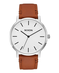 Nixon Porter Leather Watch - Brown