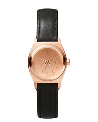 Nixon Small Time Teller Watch - Rose Gold & Black