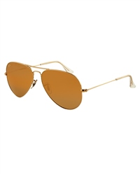Ray-Ban Aviator Classic Polarised Sunglasses - Gold