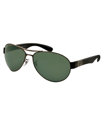 Ray-Ban Aviator Polarised Sunglasses - Black