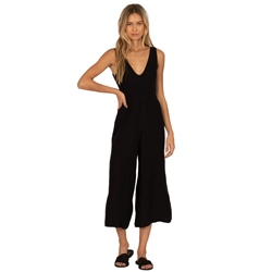 Amuse Society Port Jumpsuit - Black Sand