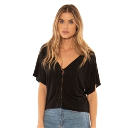 Amuse Society Sweet Water Top - Black Sand
