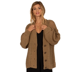 Amuse Society Shady Cove Cardigan - Brown