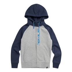 Animal Humming Zipped Hoody - Grey Marl