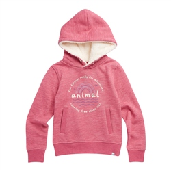 Animal Running Free Hoody - Slate Rose Pink Marl