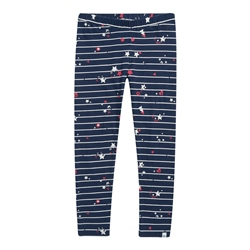 Animal Mixie Pixie Leggings - Indigo Blue