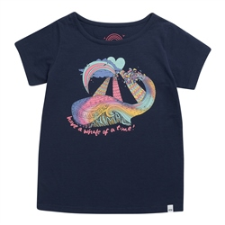 Animal Whaley T-Shirt - Indigo Blue