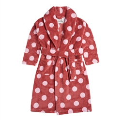 Animal Spottey Bath Robe - Mineral Red