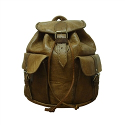 Berber Leather Berber Small Rucksack - Tan