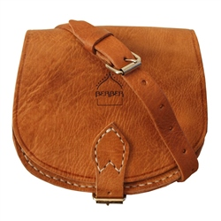 Berber Leather Berber Half Moon Saddle Bag - Tan