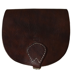 Berber Leather Berber Large Saddle Bag - Dark Brown
