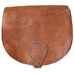 Berber Leather Berber Large Saddle Bag - Tan