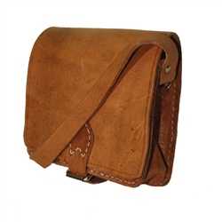 Berber Leather Berber Square Saddle Bag - Tan
