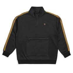 Brixton B-Shield Half Zipped Sweatshirt - Black