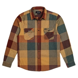 Brixton Bowery Shirt - Rust & Copper