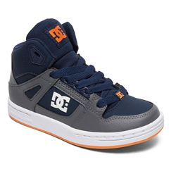 DC Shoes Pure High Top Shoes - Grey & Dark Navy