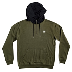 DC Shoes Rebel Half Zipped Hoody - Green & Black