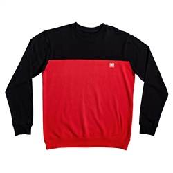 DC Shoes Rebel Block Sweatshirt - Black & Red