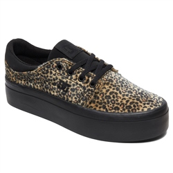 DC Shoes Trase Platform TX SE Shoes - Leopard