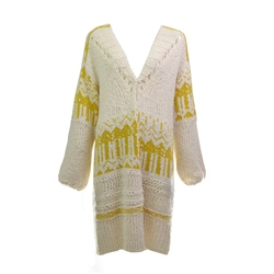 Free People Astrid  Cardigan - Yellow