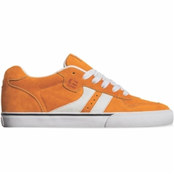 Globe Encore 2 Shoes - Orange & White Shaved Suede