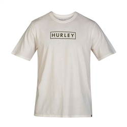 Hurley Benzo Box T-Shirt - Ivory & Green