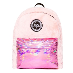 Hype Fur Holo Backpack - Pink