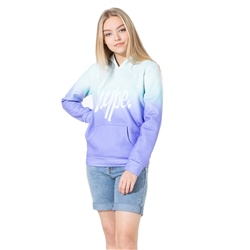 Hype Mint Fade Hoody - Mint & Purple