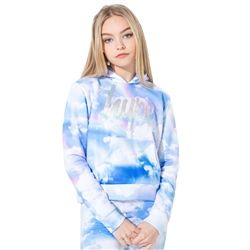 Hype Rainbow Star Crop Hoody - Multi