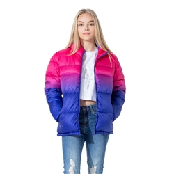 Hype Pink Fade Jacket - Pink & Purple