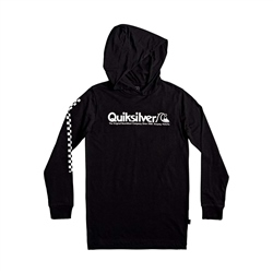 Quiksilver Check Mate Hooded T-Shirt - Black
