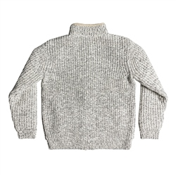 Quiksilver Boketto Zipped Knit Jumper - Grey