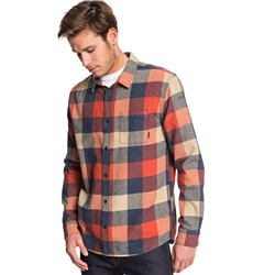 Quiksilver Motherfly Shirt - Brick